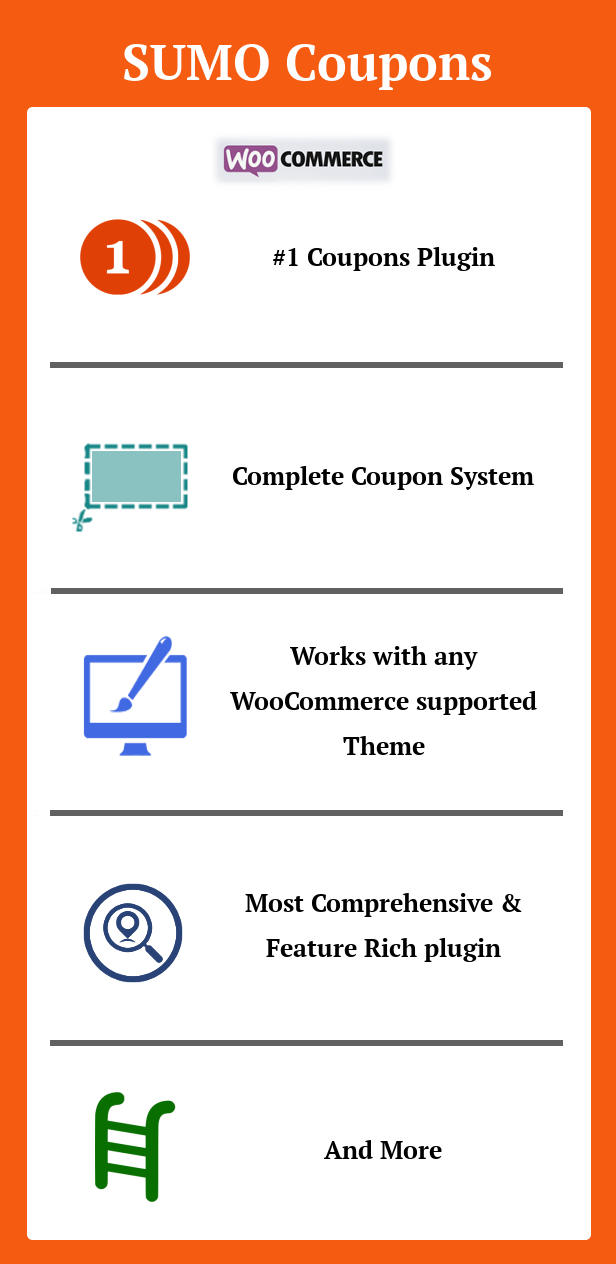 SUMO Coupons - WooCommerce Coupon System 1
